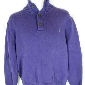 Polo By Ralph Lauren Mens Size XL Purple Sweater